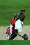 Golf trolley Stock Image