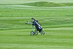 Golf trolley Stock Photos