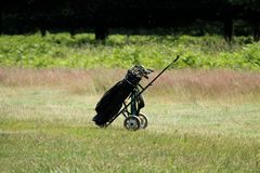 Golf Trolley. Royalty Free Stock Photography