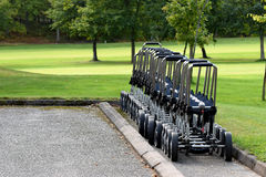 Golf trolleys Royalty Free Stock Images