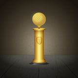 Golf trophy Stock Photography