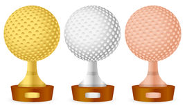 Golf trophy set Stock Image