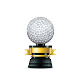 Golf trophy  on white Royalty Free Stock Image