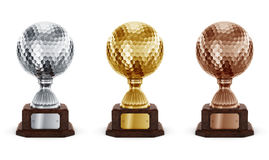Golf trophys Stock Photography