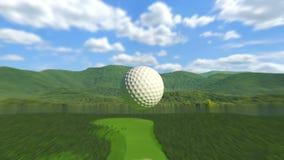 Golf : Trou dans un illustration stock