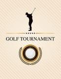 Golf-Turnier-Ereignis-Flieger-Illustration stock abbildung