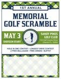 Golf-Turnier-Flieger-Schablone lizenzfreie abbildung