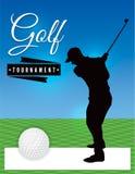 Golf-Turnier-Flieger-Schablonen-Illustration lizenzfreie abbildung
