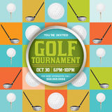 Golf-Turnier-Illustration Lizenzfreies Stockfoto