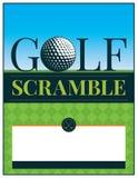 Golf-Turnier-Jagd-Flieger-Illustration vektor abbildung