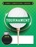Golf-Turnier-Schablonen-Illustration lizenzfreie abbildung