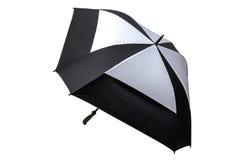 Golf Umbrella Black and White Isolated Stock Image