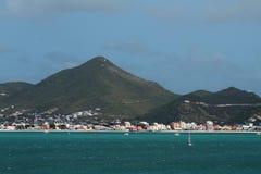 Golf und Küste von Insel im karibischen Meer Philipsburg, St Martin Lizenzfreies Stockbild