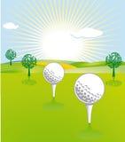 Golf unique landscape Stock Photography