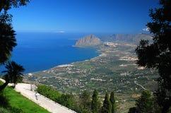 Golf van Bonagia, Sicilië stock afbeelding