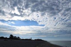 Golf van de wolken van Mexico na zonsopgang Royalty-vrije Stock Fotografie