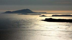 Golf van de Zonsondergang Italië van Napels Royalty-vrije Stock Foto's