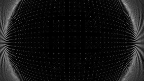 Golf van deeltjes De VectorAchtergrond van Technlogy Big Data-Deeltje Vector illustratie stock illustratie