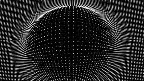 Golf van deeltjes De VectorAchtergrond van Technlogy Big Data-Deeltje Vector illustratie vector illustratie