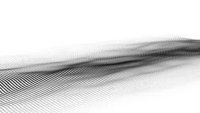 Golf van deeltjes Futuristische puntgolf Vector illustratie Abstracte achtergrond met een dynamische golf 3d golf royalty-vrije stock foto's