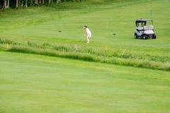 Golf van Fairway wordt geschoten die stock foto's