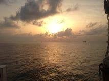 Golf van Guinea, stock foto