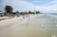 Golf van het strand van Mexico in Napels Stock Foto