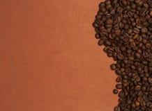Golf van koffiebonen Stock Afbeeldingen