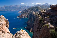 Golf van Porto, Corsica stock afbeelding