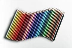 Golf van potloden Stock Afbeelding