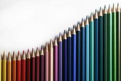 Golf van potloden Stock Fotografie