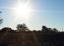 Golf van sunshiny zonsopgang van Mexico Royalty-vrije Stock Afbeelding