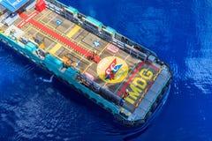 GOLF VAN THAILAND, 18,2017 OKTOBER: Zeeolie en gasbemanningsboot Stock Afbeelding