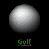 Golf - vector background. Ball in the darkness Stock Images