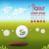 Golf Vector Concept Golf Tournament World Royalty Free Stock Image