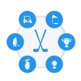Golf vector icons. Eps 10 file, easy to edit Royalty Free Stock Image
