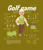 Golf vector illustration Royalty Free Stock Images