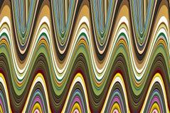 Golf veelkleurige digitale achtergrond die kleuren mengen Stock Afbeeldingen
