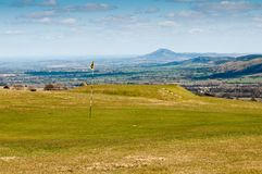 Golf with a view. Arural golf setting in the English countryside Royalty Free Stock Image