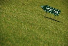 Golf - Volgende T-stuk Stock Foto's