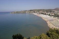 Golf von Gaeta Italien stockbilder