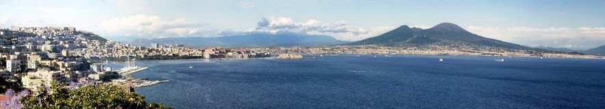 Golf von Neapel Stockfotos