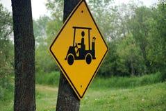 Golf-Wagen-Überfahrt Stockfoto