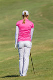 Golf Woman Pony Tail Colors Stock Image