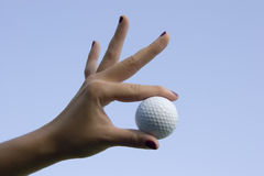 Golf and women Stock Image