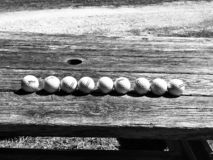 Balls on the table royalty free stock photography