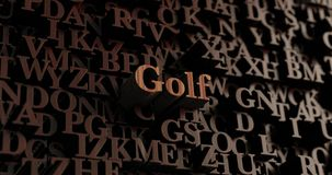 Golf - Wooden 3D rendered letters/message