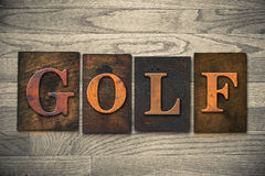 Golf Wooden Letterpress Theme Stock Image
