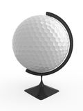 Golf is world. Golf ball - terrestrial globe. Isolated Stock Image