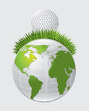 Golf and world Royalty Free Stock Photography